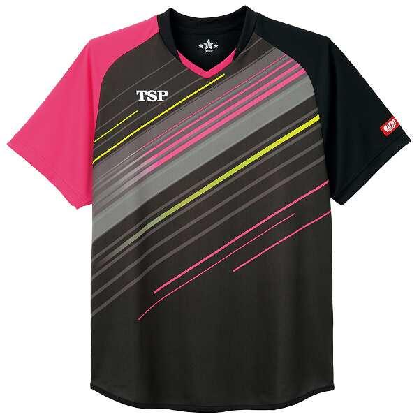 【ティーエスピ―】 卓球ゲームシャツ ピオネーラシャツ [サイズ:XL] [カラー:ブラック] #031433-0020 【スポーツ・アウトドア:その他雑貨】【TSP】