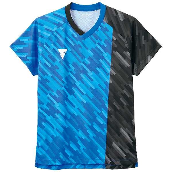 【ティーエスピ―】 卓球ゲームシャツ V-GS920 [サイズ:S] [カラー:ブルー] #031483-0120 【スポーツ・アウトドア:その他雑貨】【TSP】