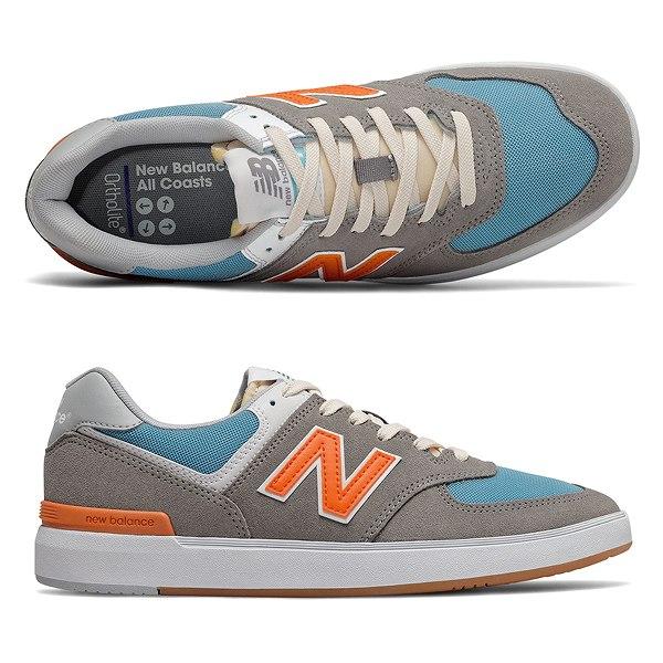 【ニューバランス】 ニューバランス ヌメリック AM574PGO [サイズ:27cm (US9) Dワイズ] [カラー:グレー×オレンジ] 【靴:メンズ靴:スニーカー】【NEW BALANCE】