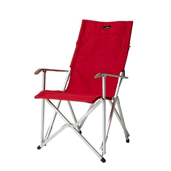 【小川キャンパル】 ハイバックチェア コーデュラ [カラー:レッド] [サイズ:座面/幅50×高さ43×奥行40cm、全高/94cm] #1917-10 【スポーツ・アウトドア:その他雑貨】【OGAWA CAMPAL HighBack Chair】