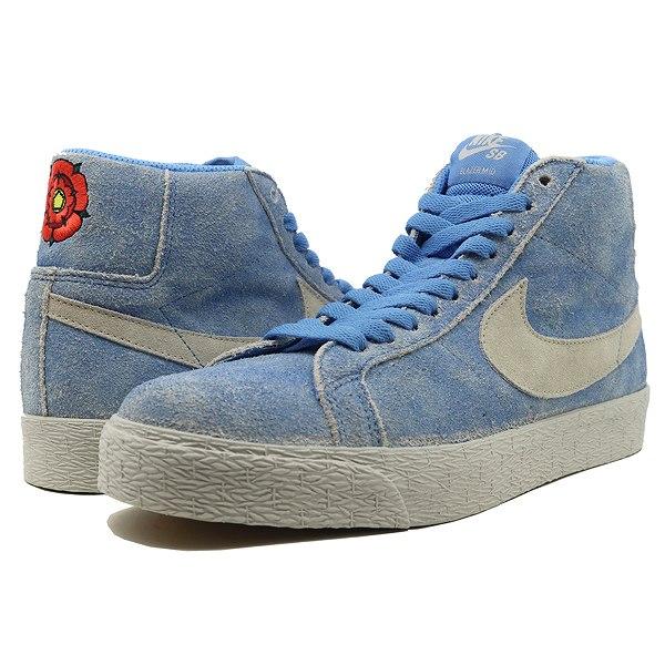 【ナイキ】 ナイキSB ズーム ブレザ― ミッド [サイズ:27cm(US9)] [カラー:ユニバーシティブルー×ライトボーン] #864349-406 【靴:メンズ靴:スニーカー】【864349-406】【NIKE NIKE SB ZOOM BLAZER MID】
