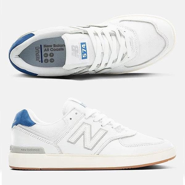 【5%off+最大3750円offクーポン(要獲得) 8/21 9:59まで】 【送料無料】 ニューバランス ヌメリック AM574WBT [サイズ:28cm (US10) Dワイズ] [カラー:ホワイト×ブルー] 【ニューバランス: 靴 メンズ靴 スニーカー】【NEW BALANCE】