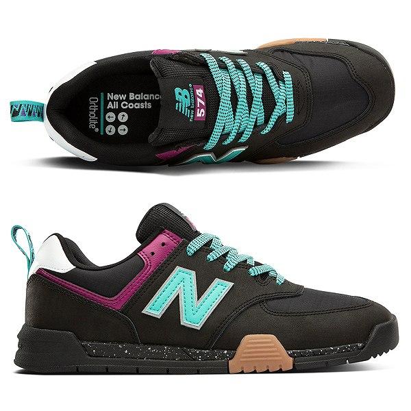 【ニューバランス】 ニューバランス ヌメリック AM574TAC [サイズ:27cm (US9) Dワイズ] [カラー:ブラック×ティール] 【靴:メンズ靴:スニーカー】【NEW BALANCE】