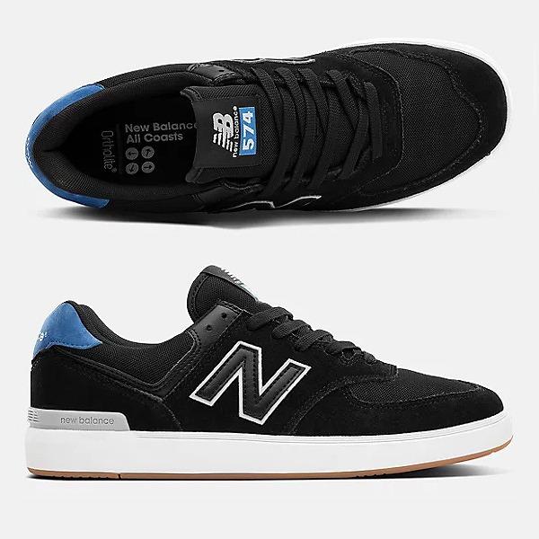 【5%off+最大3750円offクーポン(要獲得) 8/21 9:59まで】 【送料無料】 ニューバランス ヌメリック AM574BGR [サイズ:29cm (US11) Dワイズ] [カラー:ブラック×ブルー] 【ニューバランス: 靴 メンズ靴 スニーカー】【NEW BALANCE】