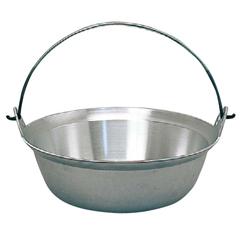 【ナカオ】 アルミ ツル付鍋 39cm 【キッチン用品:調理用具・器具:両手鍋:36cm~】【アルミ ツル付鍋】【NAKAO】