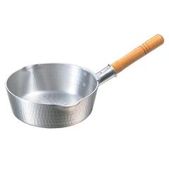 アルミ 底平 浅型打出 雪平鍋(目盛付) 27cm :ビューティーファクトリー