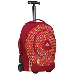 【ファウデ】 ゴンゾ26 ジュニア用ホイールバッグ キャリーバッグ [カラー:レッド×マンダリンプリント] [容量:26L] #10880-2430 【スポーツ・アウトドア:アウトドア:バッグ】【VAUDE】