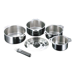 【オークス】 18-0 フィットパン鍋4点セット T41 【キッチン用品:調理用具・器具:両手鍋】【AUX】
