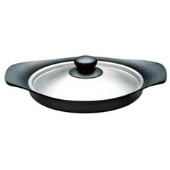 柳宗理 南部鉄器 オイルパン 22cm (ステンレス蓋付き) :ビューティーファクトリー