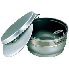 【オオイ金属】 アルマイト スミフロン 二重食缶(お枢型) 264-B 10L 【キッチン用品:容器・ストッカー・調味料入れ:保存容器(材質別)】【アルマイト スミフロン 二重食缶(お枢型)】【OOI KINZOKU】