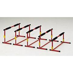エクササイズアジャストハードル [サイズ:幅60×奥行21×高さ20~35cm] #G-1630 5台1組
