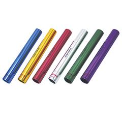 アルミバトンセット6(検) [カラー:赤・青・黄・シルバー・緑・紫] [サイズ:直径39mm×長さ約30cm] #G-1208 6本1組