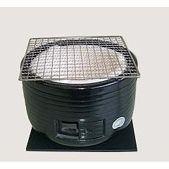 【キンカ】 三河こんろ(黒) C-3 黒台付 【キッチン用品:調理機器:木炭コンロ】【三河コンロ】【KINKA】