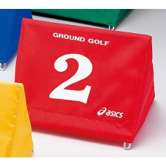 【アシックス】 グラウンドゴルフ用 スタート表示板セット 大型(同色8台組) [カラー:レッド] #GGG071 【スポーツ・アウトドア】【ASICS】