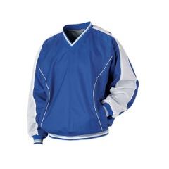 野球用 ジャンパー(Vネック・長袖) BO550 [カラー:ロイヤルブルー×ホワイト] [サイズ:O] #BO550
