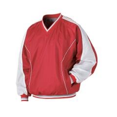 野球用 ジャンパー(Vネック・長袖) BO550 [カラー:レッド×ホワイト] [サイズ:2XO] #BO550