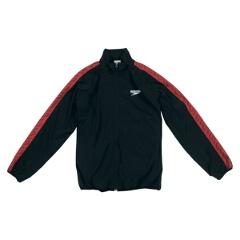 【スピード】 モノグラム ウインドジャケット(ユニセックス) [カラー:ブラック] [サイズ:XO] #SD12F10 【スポーツ・アウトドア】【SPEEDO】