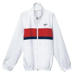 【スピード】 カラーブロック ウインドジャケット(ユニセックス) [カラー:ホワイト] [サイズ:O] #SD12F11 【スポーツ・アウトドア】【SPEEDO】