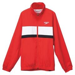 【スピード】 カラーブロック ウインドジャケット(ユニセックス) [カラー:レッド] [サイズ:XO] #SD12F11 【スポーツ・アウトドア】【SPEEDO】