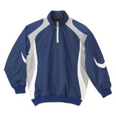 【デサント】 野球用 長袖プルオーバーコート STD-428 [カラー:ロイヤルブルー×シルバー×ホワイト] [サイズ:O] #STD-428 【スポーツ・アウトドア:野球・ソフトボール:ウェア:グランドコート】【DESCENTE】