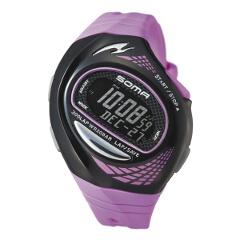 【ソーマ】 RUN ONE 300 TRIATHLON(ランワン300 トライアスロン) ランニングウォッチ [カラー:ブラック×マゼンタ] #DWJ21-0006 【スポーツ・アウトドア:ジョギング・マラソン:ギア】【SOMA】