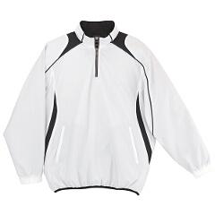 野球用(ジュニア) JR長袖プルオーバーコート [カラー:ホワイト×ブラック] [サイズ:150] #JSTD-425