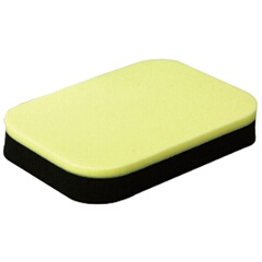 ラバークリーナー用スポンジ 拭くださん(ふくださん) 卓球ラバークリーナー用スポンジ [カラー:イエロー×ブラック] #Z-178