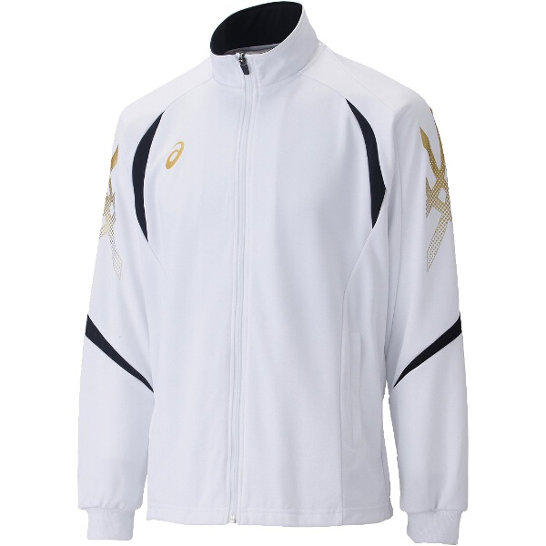 【アシックス】 トレーニング用 トレーニングジャケット XAT176 [カラー:ホワイト×ブラック] [サイズ:O] #XAT176 【スポーツ・アウトドア:その他雑貨】【ASICS】