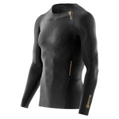 【スキンズ】 A400 メンズロングスリーブトップ 日本正規品 [カラー:ブラック×ゴールド] [サイズ:XL] #K32156005D-BKGL 【スポーツ・アウトドア:スポーツ・アウトドア雑貨】【SKINS】