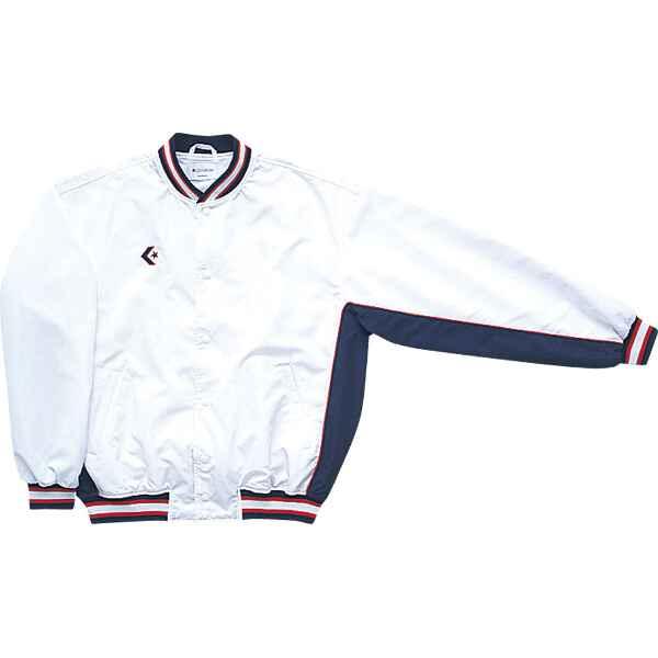 ウォームアップジャケット(前ボタン) CB14112S [カラー:ホワイト×ネイビー] [サイズ:L] #CB14112S-1129