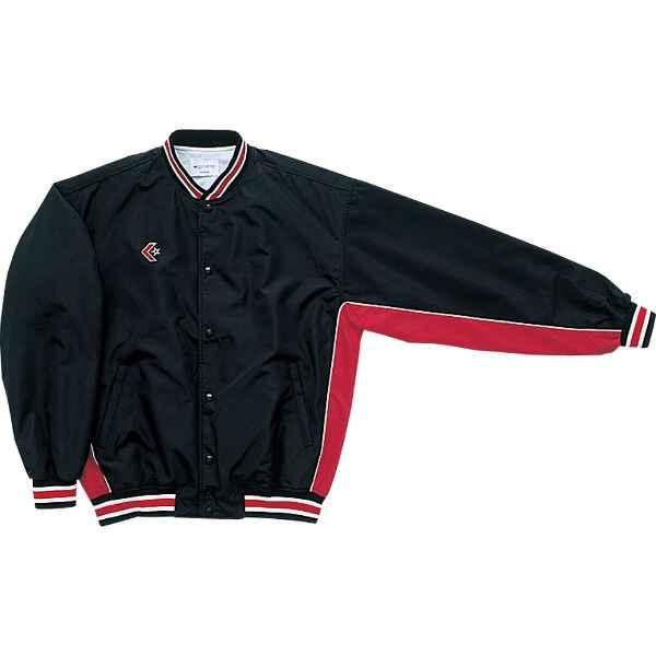 【コンバース】 ウォームアップジャケット(前ボタン) CB14112S [カラー:ブラック×レッド] [サイズ:XO] #CB14112S-1964 【スポーツ・アウトドア:その他雑貨】【CONVERSE】