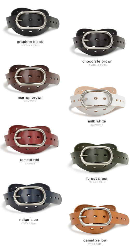 Simple easy a rounded buckle belt, a beautiful 8 colors and supple leather, men's and women's denim and casual everyday fun, basic leather belt MEN's Belt LADY's Belt