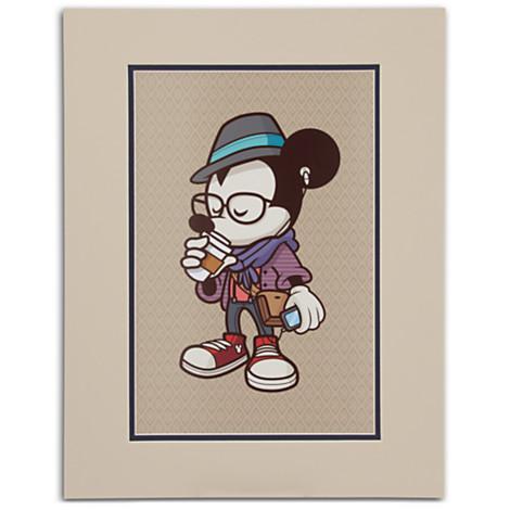 디즈니 (Disney) US 공식 상품 미키 마우스 아트 프린트 그림 엉덩이 스타 ジェロッドマルヤマ Mickey Mouse ' Hipster Mickey ' Art Print by Jerrod Maruyama 장난감 저장소 선물 선물 생일 인기 키즈 아이