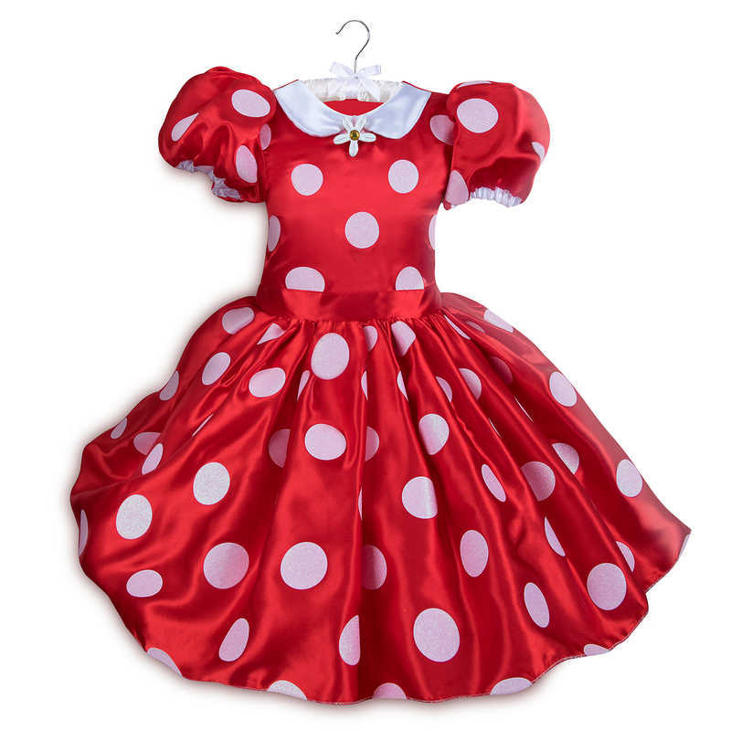 Disney Store Classic Minnie Mouse Red /& White Polka dot Costume Halloween Dress