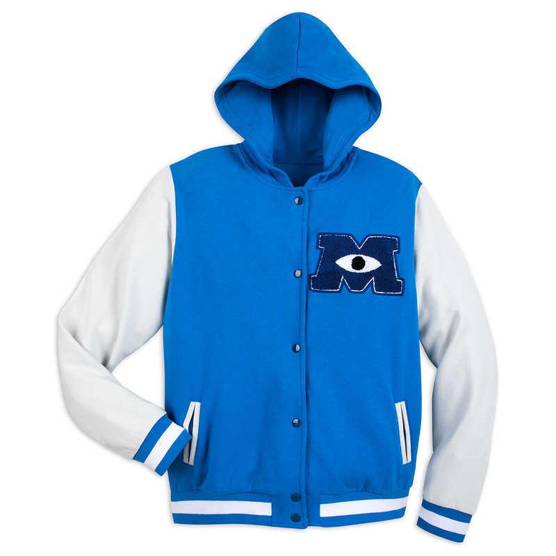 【取寄せ】 ディズニー Disney US公式商品 モンスターズ ユニバーシティ スタジアムジャンパー チーム ジャケット 服 ジャンパー 上着 トップス 洋服 フード付き 大人用 大人 [並行輸入品] Monsters University Hooded Varsity Jacket for Adults グッズ ストア プレゼント