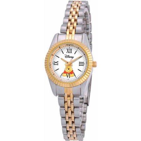 【あす楽】ディズニー Disney くまのプーさん 腕時計 ブレスレット レディース 大人 女性用 [並行輸入品] Winnie The Pooh Women's Watch, Two-Tone Bracelet クリスマス 誕生日 プレゼント ギフト