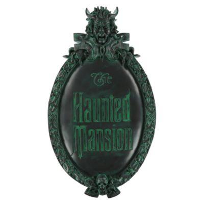 【1-2日以内に発送】ディズニー Disney US公式商品 ホーンテッドマンション ゲートプラーク ウォールサイン レプリカ【 58cm(高さ) x 33cm】 壁掛け サインボード サイン 標識 標示 [並行輸入品] The Haunted Mansion Wall Sign