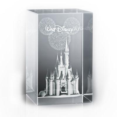 【取寄せ】ディズニー Disney US公式商品 シンデレラ プリンセス ウォルトディズニーワールド ガラスの置物(台は別売) アリバスブラザーズ [並行輸入品] Cinderella Castle Laser Cube by Arribas - Walt Disney World