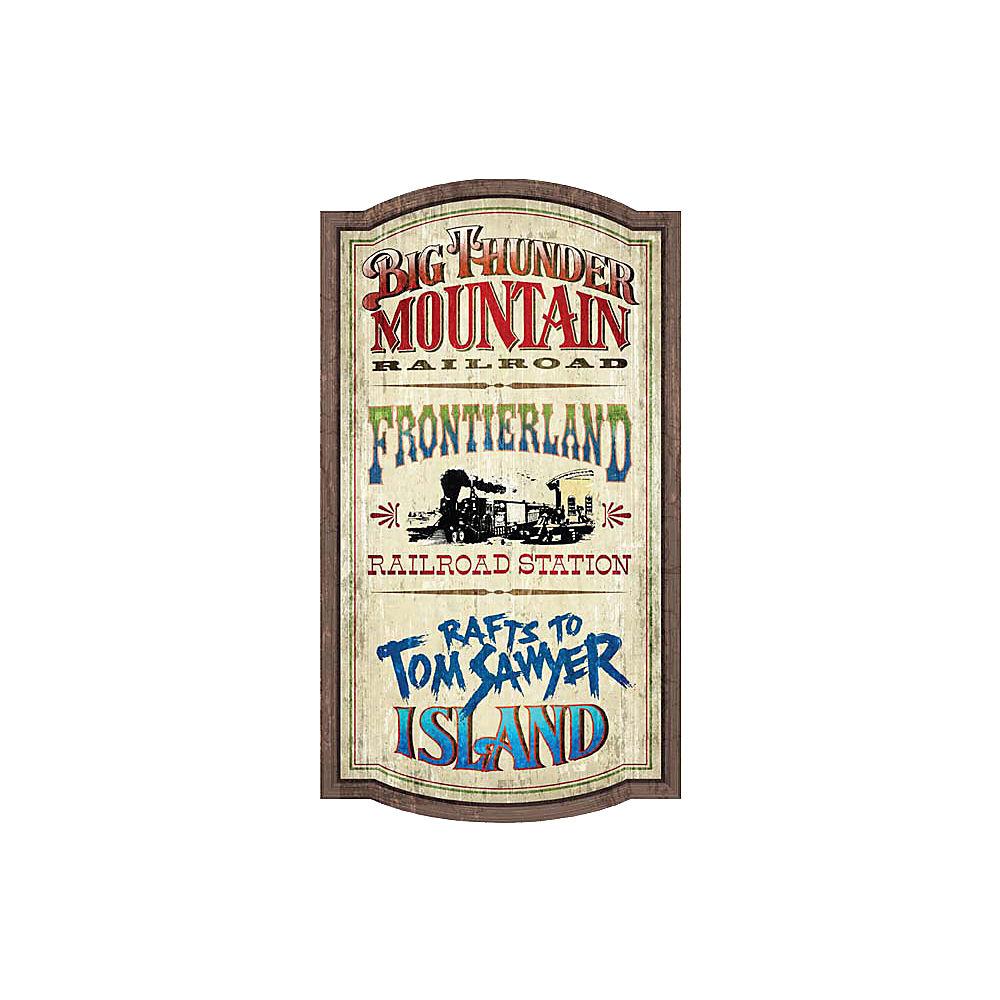 【取寄せ】 ディズニー Disney US公式商品 フロンティアランド ウォルトディズニーワールド ウォールサイン 壁掛け サインボード サイン 標識 標示 [並行輸入品] Frontierland Attractions Wall Sign - Walt Disney World グッズ ストア プレゼ