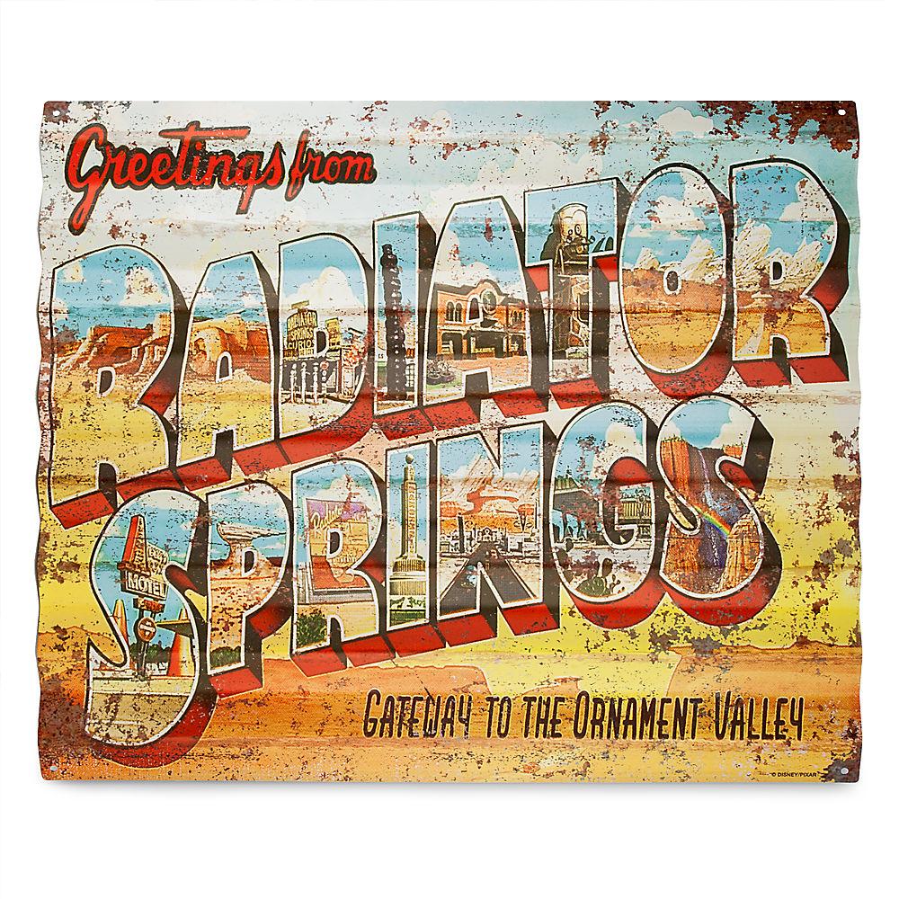 【取寄せ】 ディズニー Disney US公式商品 カーズ Cars サイン 標識 標示 [並行輸入品] Radiator Springs Metal Sign - グッズ ストア プレゼント ギフト 誕生日 人気 クリスマス 誕生日 プレゼント ギフト