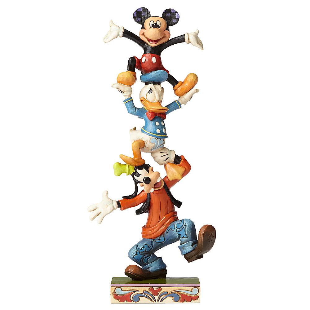 【取寄せ】 ディズニー Disney US公式商品 ミッキーマウス 置物 フィギュア 人形 おもちゃ [並行輸入品] Mickey Mouse and Friends ''Teetering Tower'' Figure by Jim Shore グッズ ストア プレゼント ギフト 誕生日 人気 クリスマス 誕生日 プレゼ