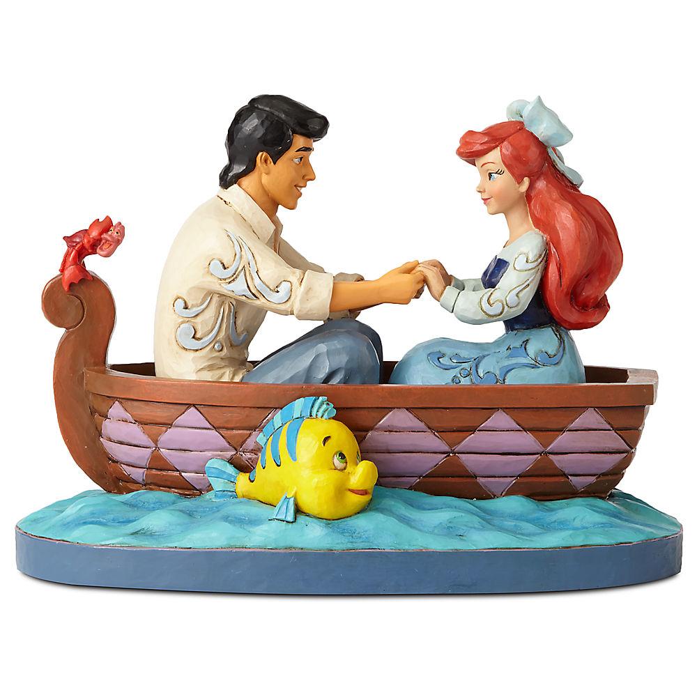 【取寄せ】 ディズニー Disney US公式商品 リトルマーメイド アリエル Ariel プリンセス 置物 フィギュア 人形 おもちゃ [並行輸入品] The Little Mermaid ''Waiting for a Kiss'' Figure by Jim Shore グッズ ストア プレゼント ギフト 誕生日 人気