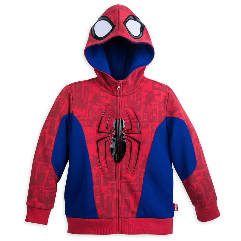 9fed3f2d043 It is child boy Boys [parallel import goods] Spider-Man Costume Fleece  Hoodie for Bo for the embezzlement costume clothes dress costume play  Halloween ...