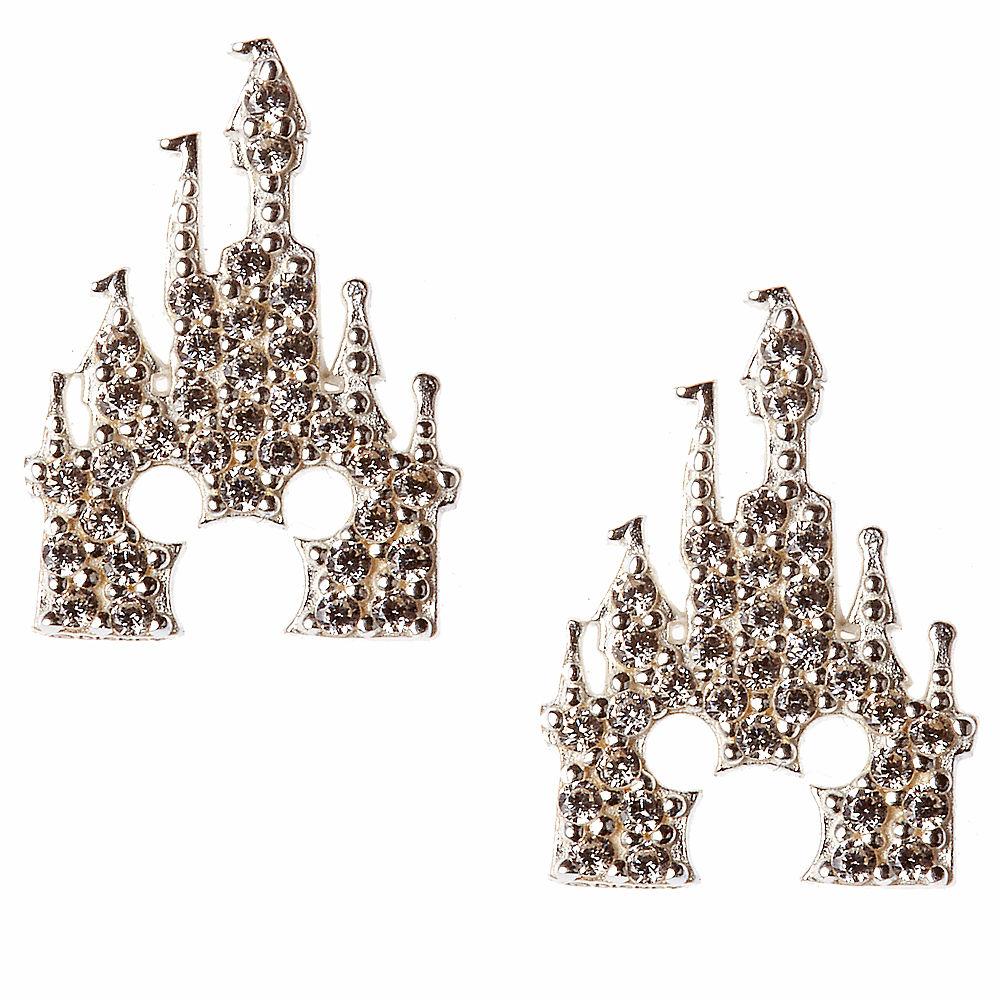 【取寄せ】 ディズニー Disney US公式商品 ミッキーマウス ピアス ジュエリー アクセサリー 城 キャッスル レベッカフック [並行輸入品] Mickey Mouse Castle Earrings by Rebecca Hook - Silver グッズ ストア プレゼント ギフト 誕生日 人気 クリスマス 誕生日 プレゼ