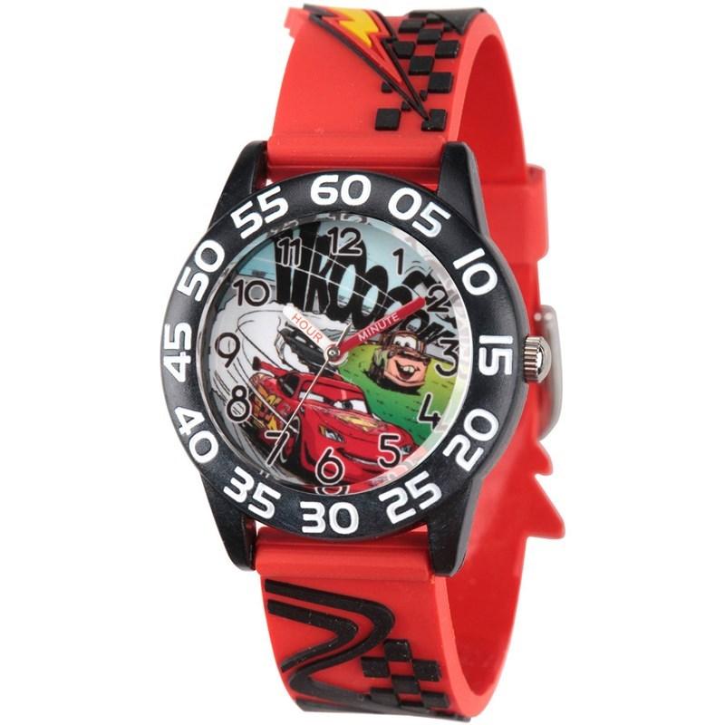 【1-2日以内に発送】ディズニー Disney カーズ Cars ライトニング マックイーン マックイン 腕時計 男の子用 子供 おもちゃ 玩具 男の子 ボーイズ 子供用 キッズ 女の子 [並行輸入品] Lightning McQueen WDS000024