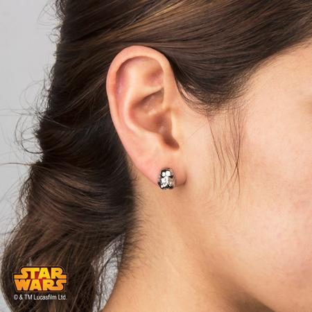 Disney Usa Products Star Wars Pierced Earrings Jewelry Accessories Capdase Stainless Steel Stormtrooper Stud Kids Boys