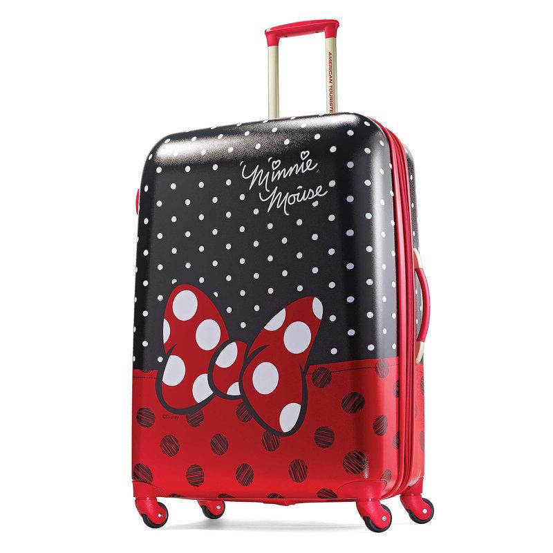 【取寄せ】 ディズニー Disney US公式商品 ミニーマウス アメリカンツーリスター スーツケースブランド ラゲージ 鞄 カバン スーツケース 旅行 バッグ 【大サイズ】 アメリカン キャリーケース [並行輸入品] Minnie Mouse Bow Luggage - American Tourister Large グッズ