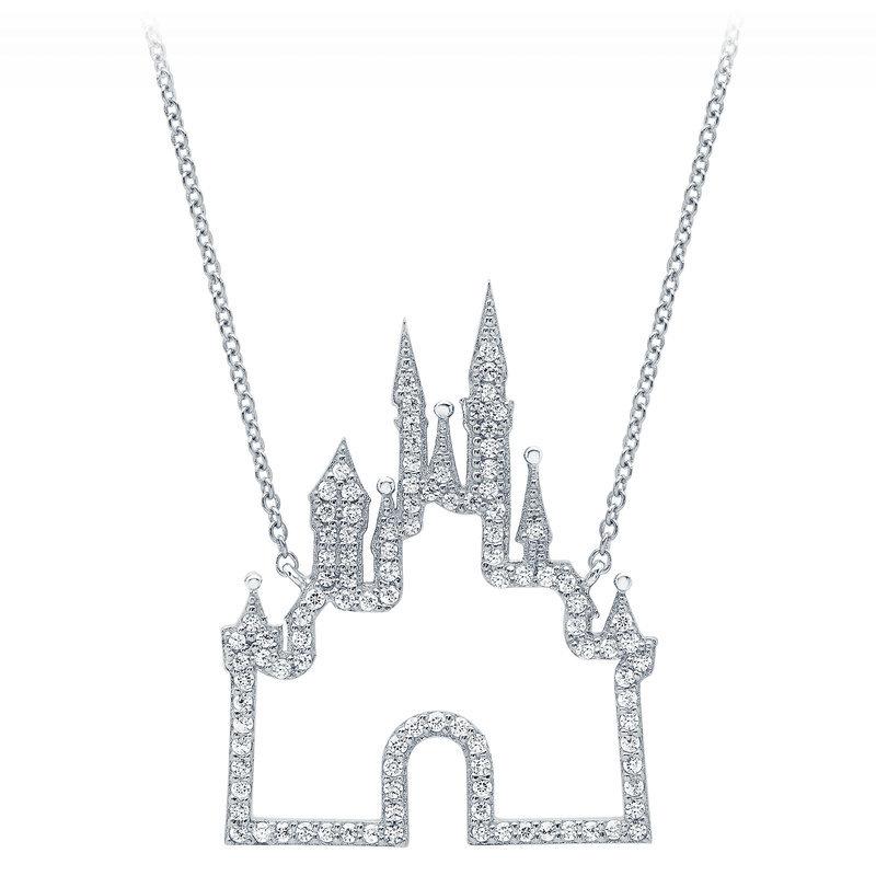 【取寄せ】 ディズニー Disney US公式商品 ファンタジーランド Fantasyland ネックレス ジュエリー アクセサリー 城 キャッスル [並行輸入品] Castle Necklace by CRISLU - Platinum グッズ ストア プレゼント ギフト 誕生日 人気 クリスマス 誕生日 プレゼント ギフト