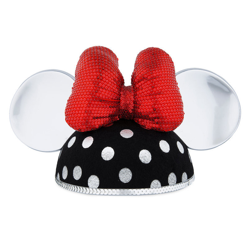 Child  parallel import goods  Minnie Mouse Ear Hat for Girls - Silver Polka  Dot goods birthday Christmas of the child woman for the Disney Disney US  formula ... 4dc17e6e46f7