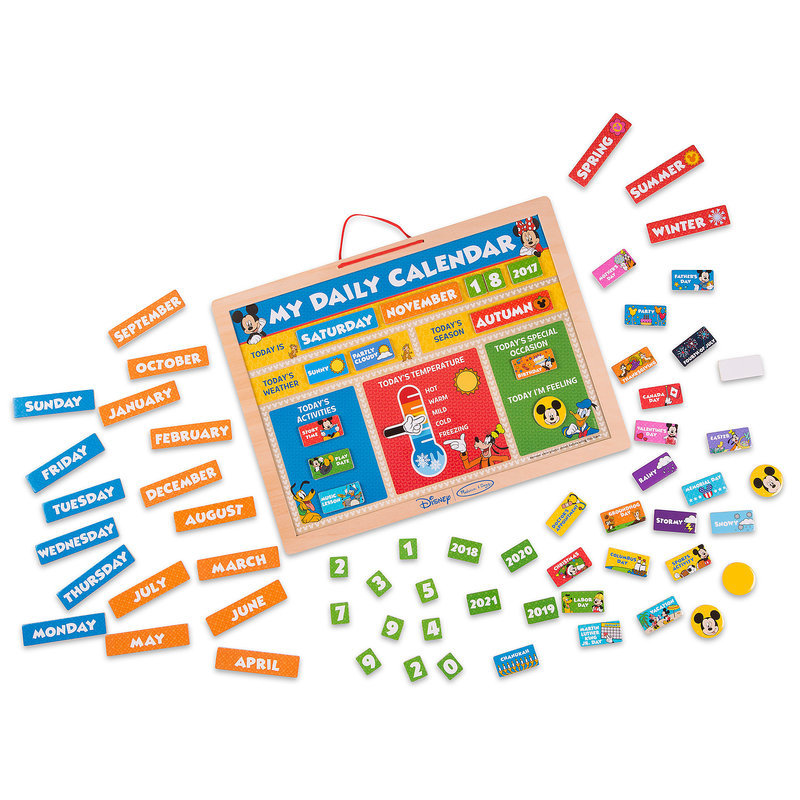 Melissa and Doug My Daily Magnetic Kids Children/'s Calendar